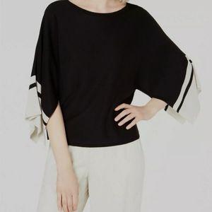 Eileen Fisher Black Boatneck sweater